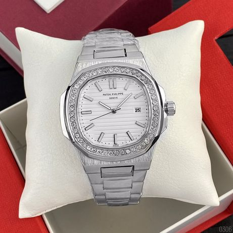 Zegarek Patek Philippe 8001 Silver-White