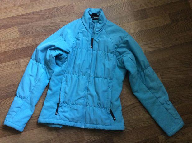 Курточка флисовая на синтепоне Adidas женская размер s подстежка