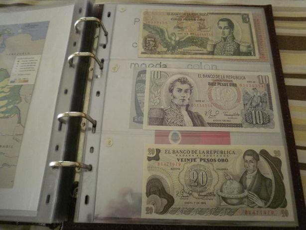 COLOMBIA 5 Notas 4 são Novas - NÃO Circuladas e 1 MUITO BEM CONSERVADA