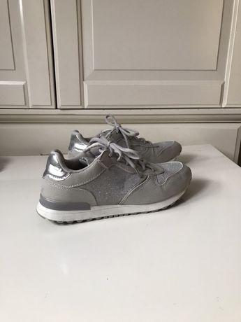Adidasy sneakersy sportowe buty damskie srebrne 39