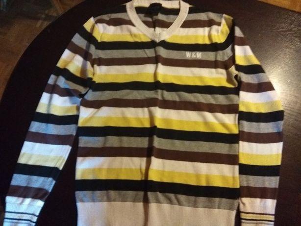 sweter w pasy - rozmiar m