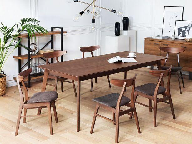 Mesa de jantar 200 x 100 cm castanho escuro MADOX - Beliani