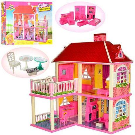Домик для куклы Барби Арина 6980 2 этажа,5 комнат