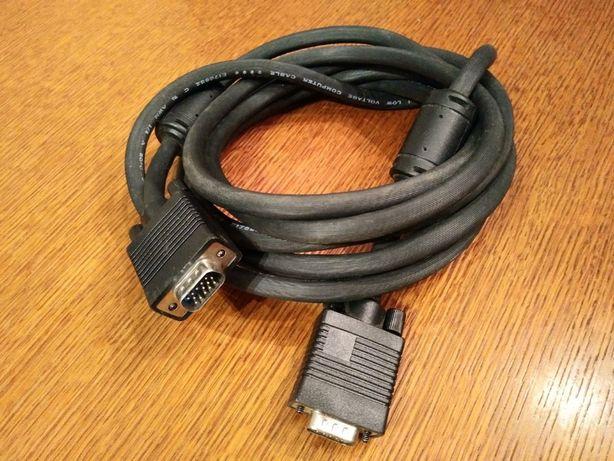 Długi kabel VGA 3m bardzo dobrej jakości, gruby. Rzutnika, TV, monitor
