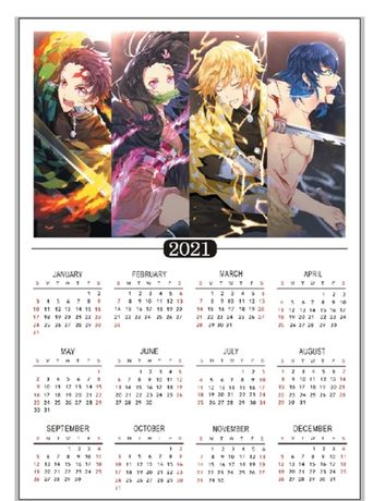 Kalendarz plakat manga anime Kimetsu no yaiba
