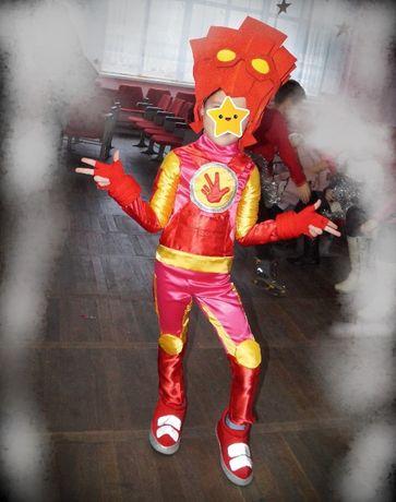 Новогодний костюм Фиксика Фаера карнавальный нарядный для мальчика