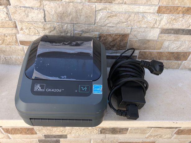 Impressora Térmica Directa Zebra GK420D (recibos, etiquetas, rótulos)