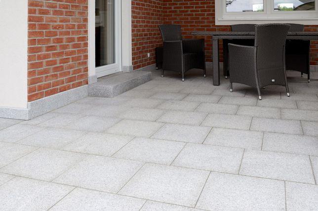 Szary Granit 60x60 Płyty Granitowe Taras Bianco Płomień