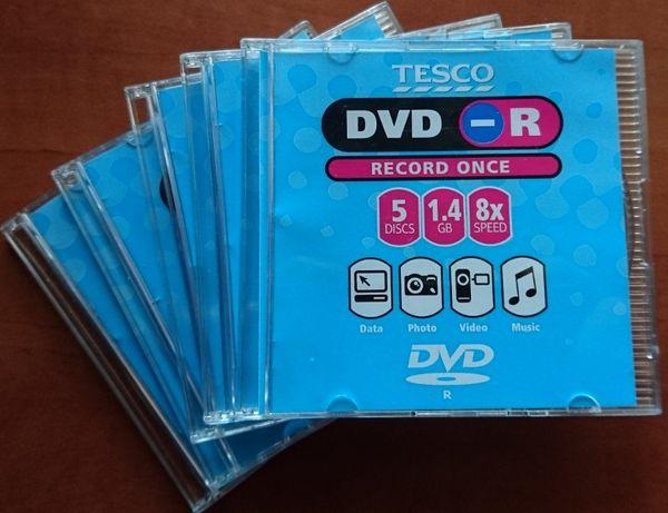 Płyty mini DVD-R 1.4 GB Tesco, nowe, do kamery