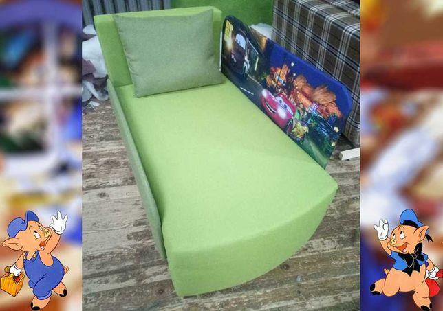 Очень крепкий  детский диван-кровать Мультик Машинки Маквин