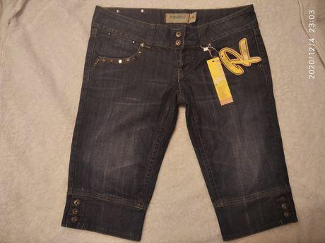 Новые бриджи, джинсовые .