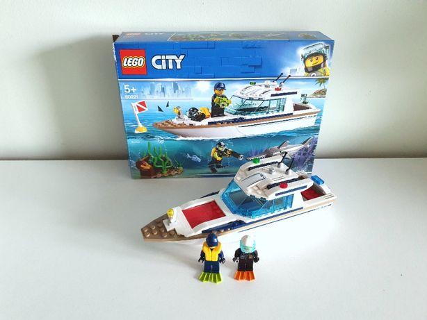 LEGO CITY Jach motorówka statek łódka pływająca 60221 + figurki