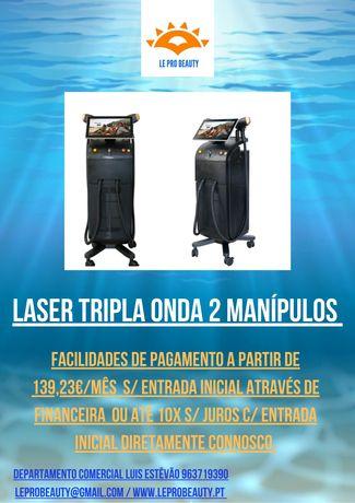 Laser tripla onda Alexandrite + Diodo + NDYAG 2 Manipulos + Curso