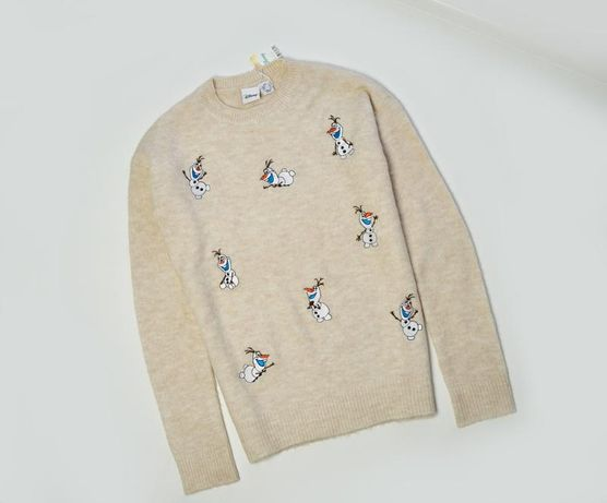 Легкий свитер снеговики дисней Disney