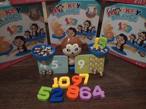 Распродажа Математическа игрушка обезьянка весы