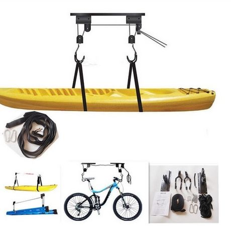Sistema de Roldanas de Tecto p/ Kayak e Bicicletas.