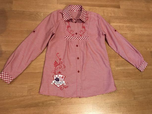 Школьная рубашка блузка туника с вышивкой, новая, р. 146
