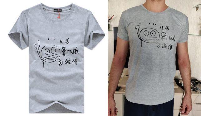 Мужская футболка T-Shirt, белая футболка с коротким рукавом- хлопок