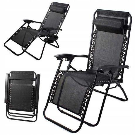 Кресло шезлонг ZERO GRAVITY с подстаканником до 120 кг