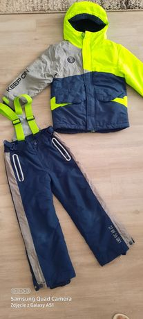 Cool club 116 122 spodnie kurtka narciarska kombinezon komplet zimowy