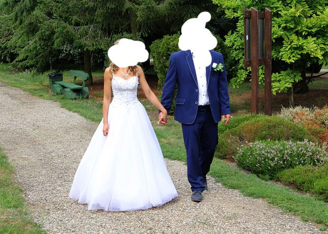 Suknia ślubna piękna 36-38