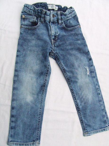 Jeansy jeansowe spodnie Detroid 98 jak nowe, super kolor!