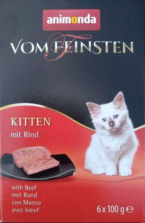 Animonda Vom Feinstein mit Rind ( z wołowiną) tacka 100 gram.