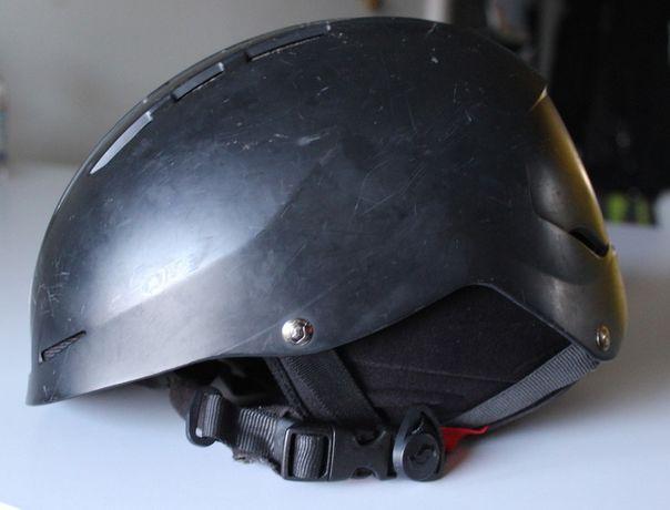 Kask damski czarny narciarski - rozmiar M/L