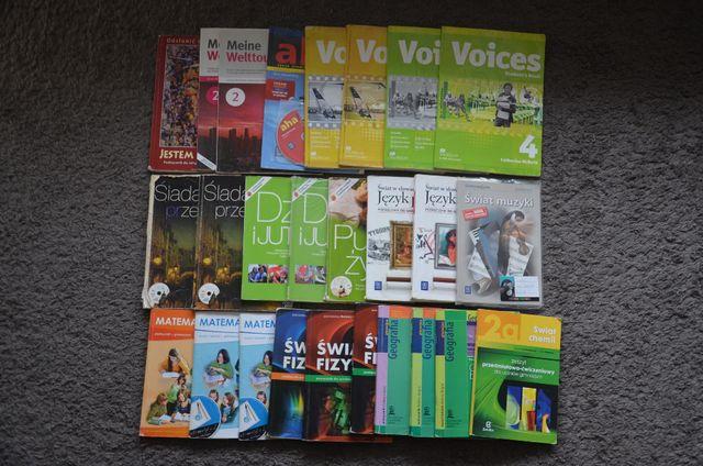Podręczniki GIMNAZJUM języki, matematyka, fizyka, biologia,chemia inne