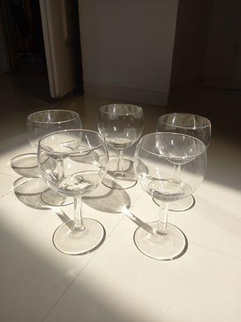 Kieliszki lampki do wina prl vintage 5 sztuk