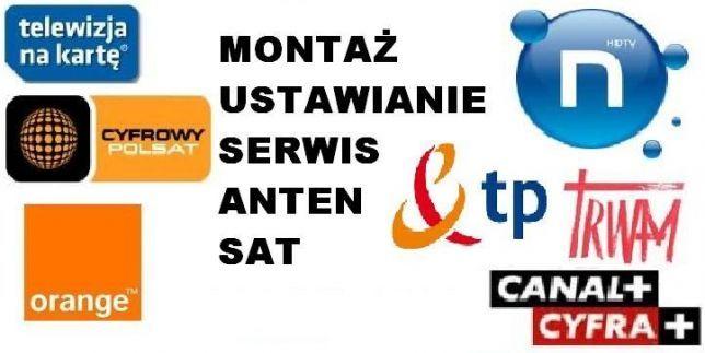 SERWIS 24H MONTAŻ USTAWIENIE anten satelitarnych i DVB-t, ustawianie