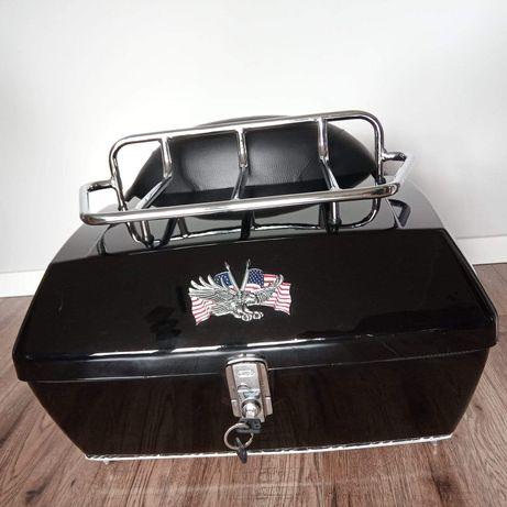 Kufer centralny bagażnik oparcie