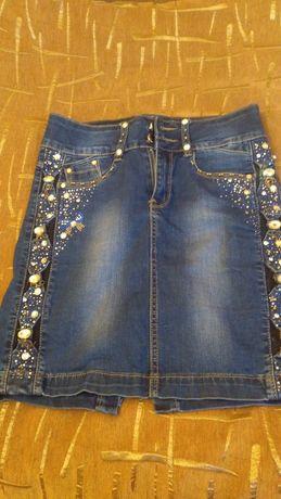 Юбка джинсовая 12-15 лет