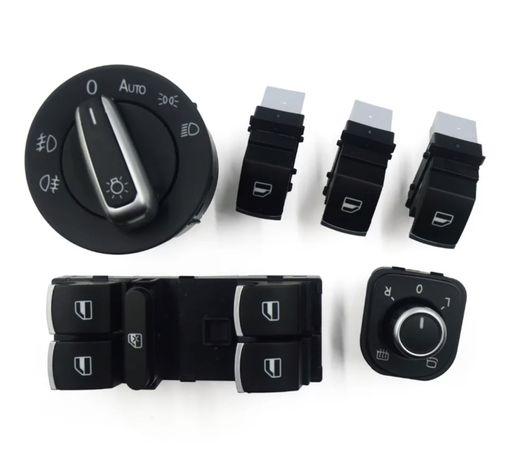 Kit  botões vidros luzes espelhos Vw Golf 5 6 Jetta, Passat B6 Tiguan