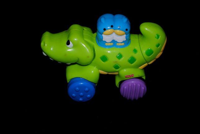 Машинка крокодил инерционная Fisher-price для малышей Hasbro elc