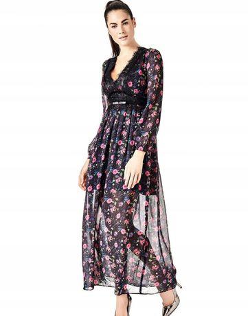 Sukienka Guess 36 maxi  kwiaty