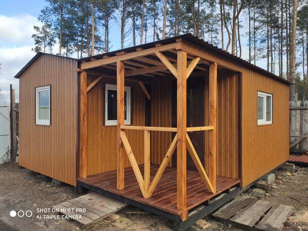 Дачный деревяны дом 6-5.5