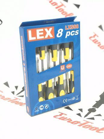 Набор отверток 8 шт. намагниченные магнит LEX отвёрток, хром ванадий