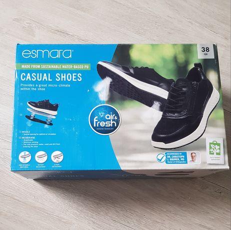 Czarne buty damskie sportowe esmara r.38 NOWE
