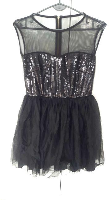 sukienka różne wzory i kolory, cekiny, koronka, tiul orsay i inne S M