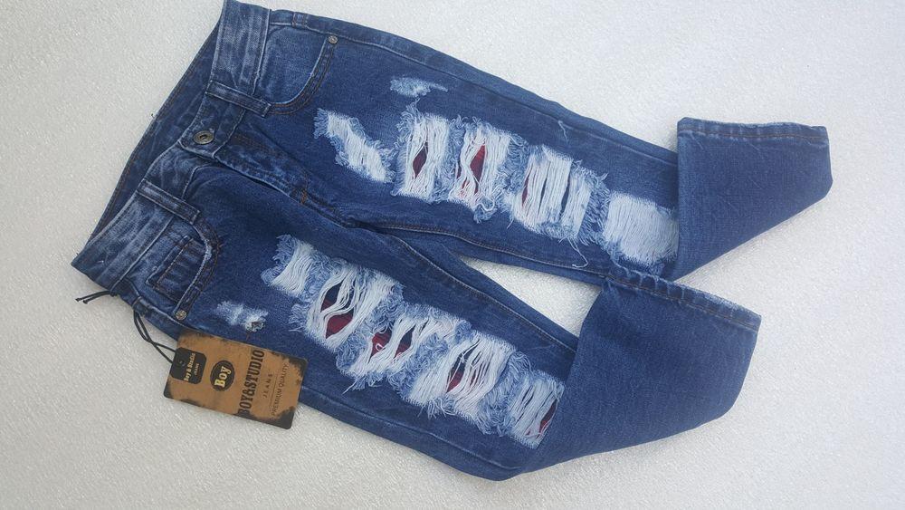Фирменные джинсы с потертостями мальчику р. 104 Кременчуг - изображение 1