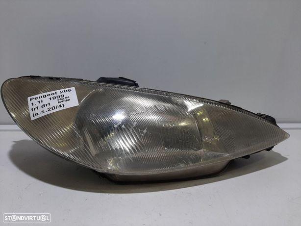 Farol normal COM DEFEITO Dto Usado PEUGEOT/206 Hatchback (2A/C)/1.1 i | 09.98 -