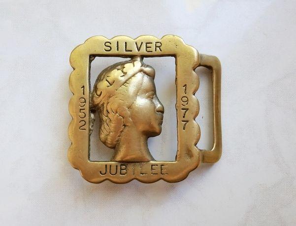 Пряжка Silver Jubiee Queen Elizabeth II (1952 - 1977) Британия. Оригин