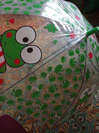 Зонтик детский силиконовый с лягушатами