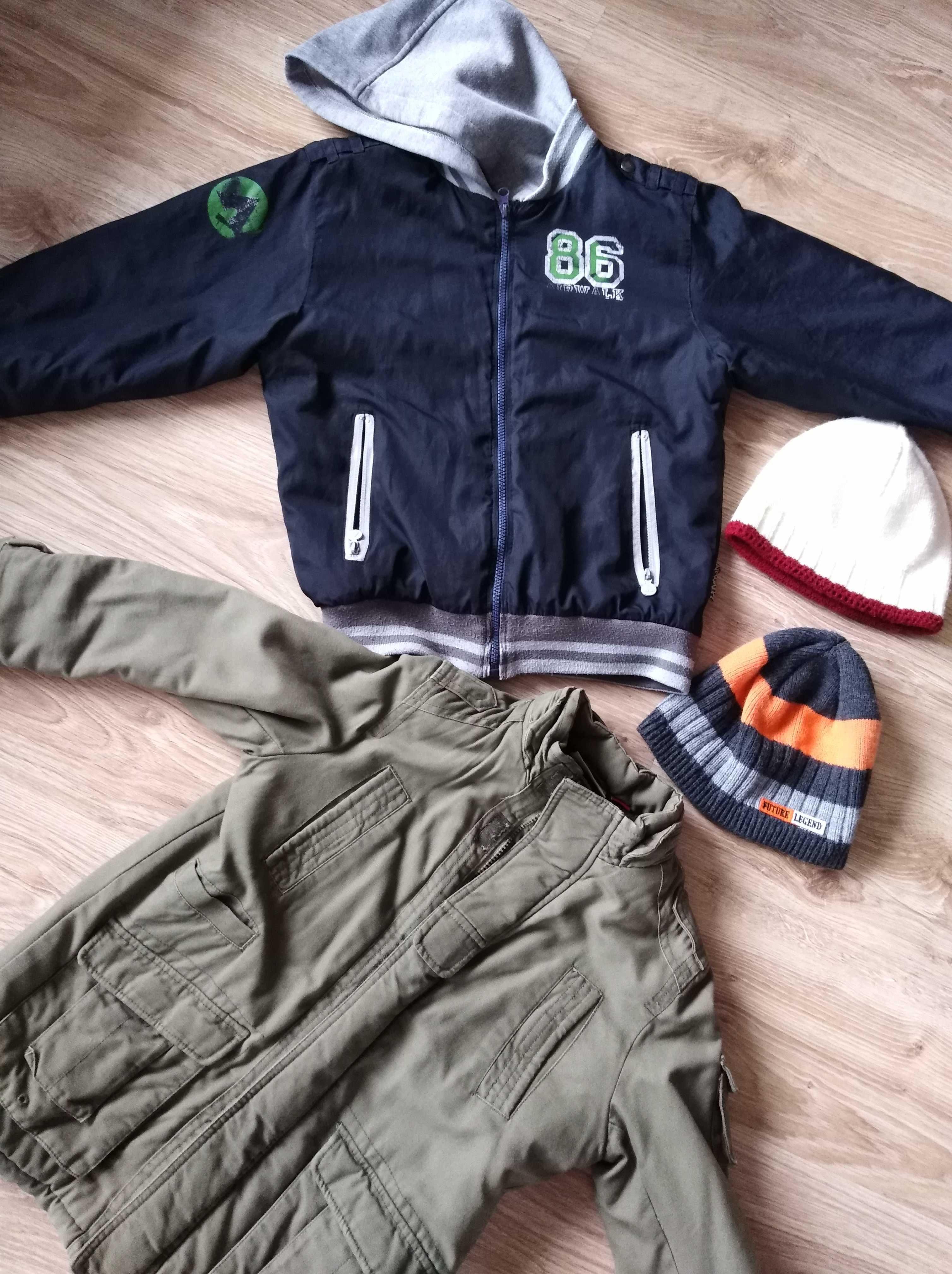 Zestaw chłopiec kurtka, czapka 8,10 lat