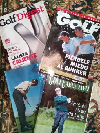 lote de 4 revistas de GOLFE