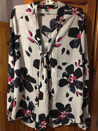 Bluzka damska AVON w kwiaty z wiązaniem roz. 36