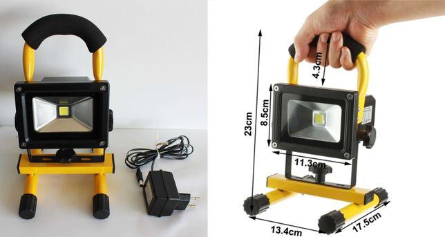Projector / Holofote LED recarregável sem fios de 10W e 1000Lm