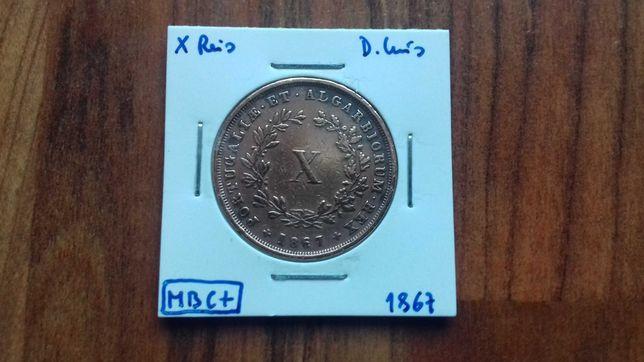 Moeda X Reis 1867 D. Luís - MBC +