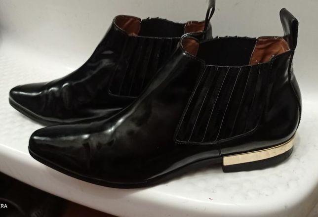Шикарные фирменные ботинки челси ботильоны 41р Zara натуральная кожа